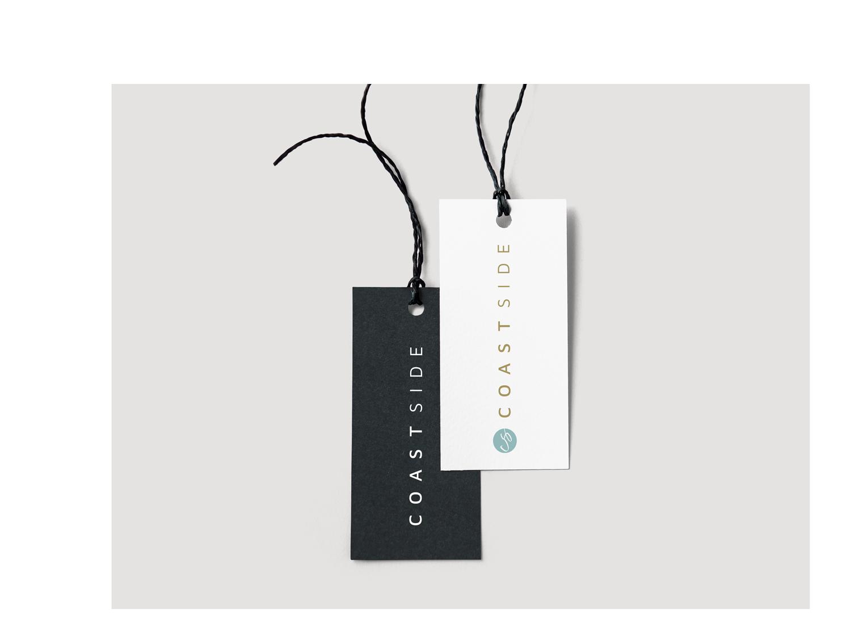 Coastside Label, schwarz und weiß