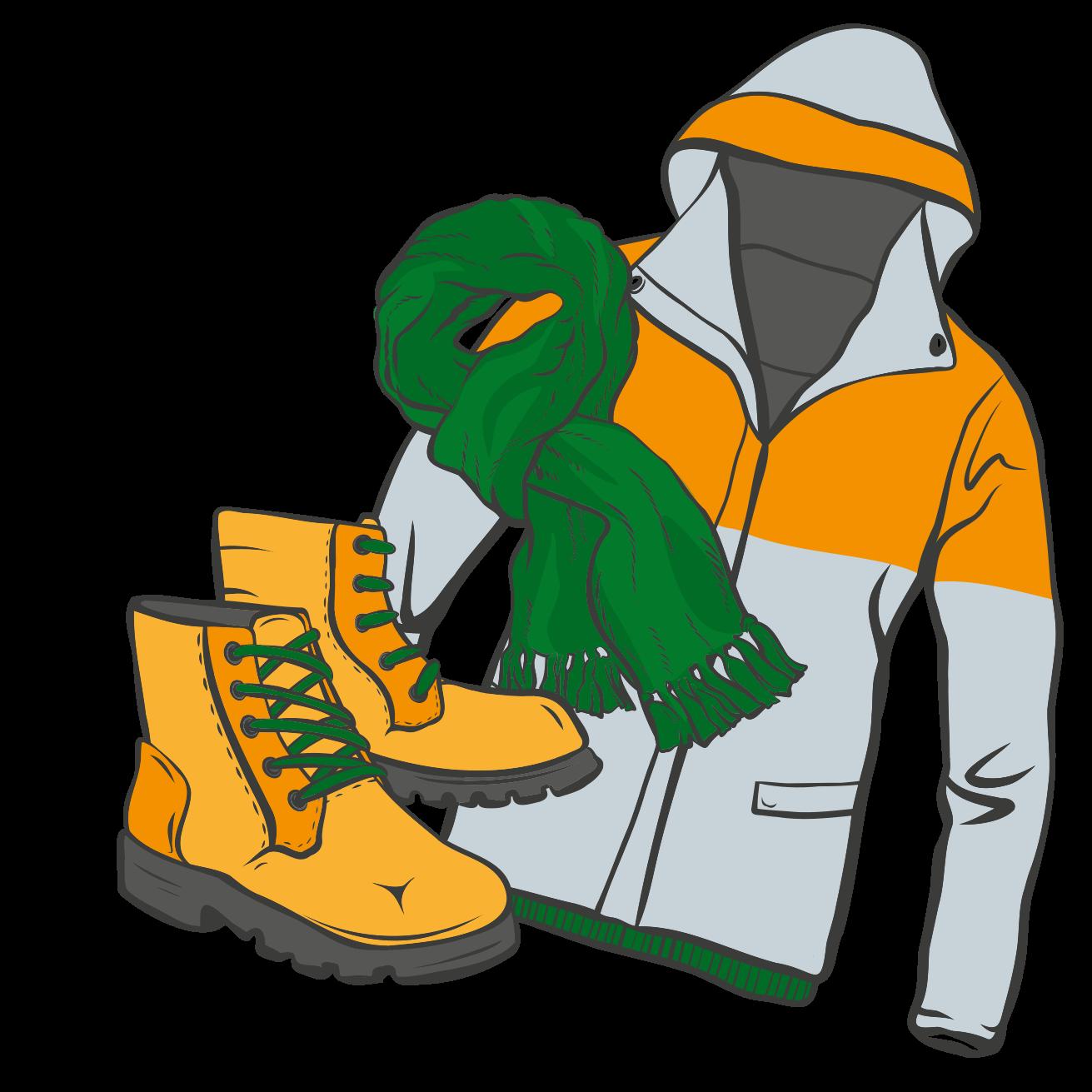Illustration verschiedene Kleidungsstücke