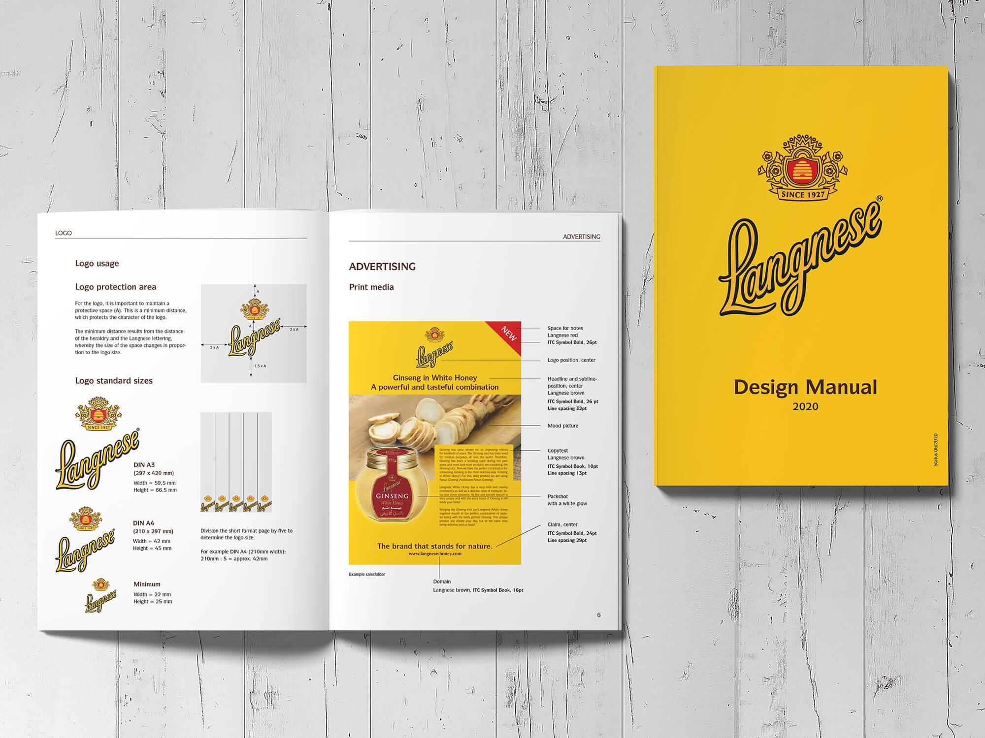 Langnese Honig Brand-Design-Booklet