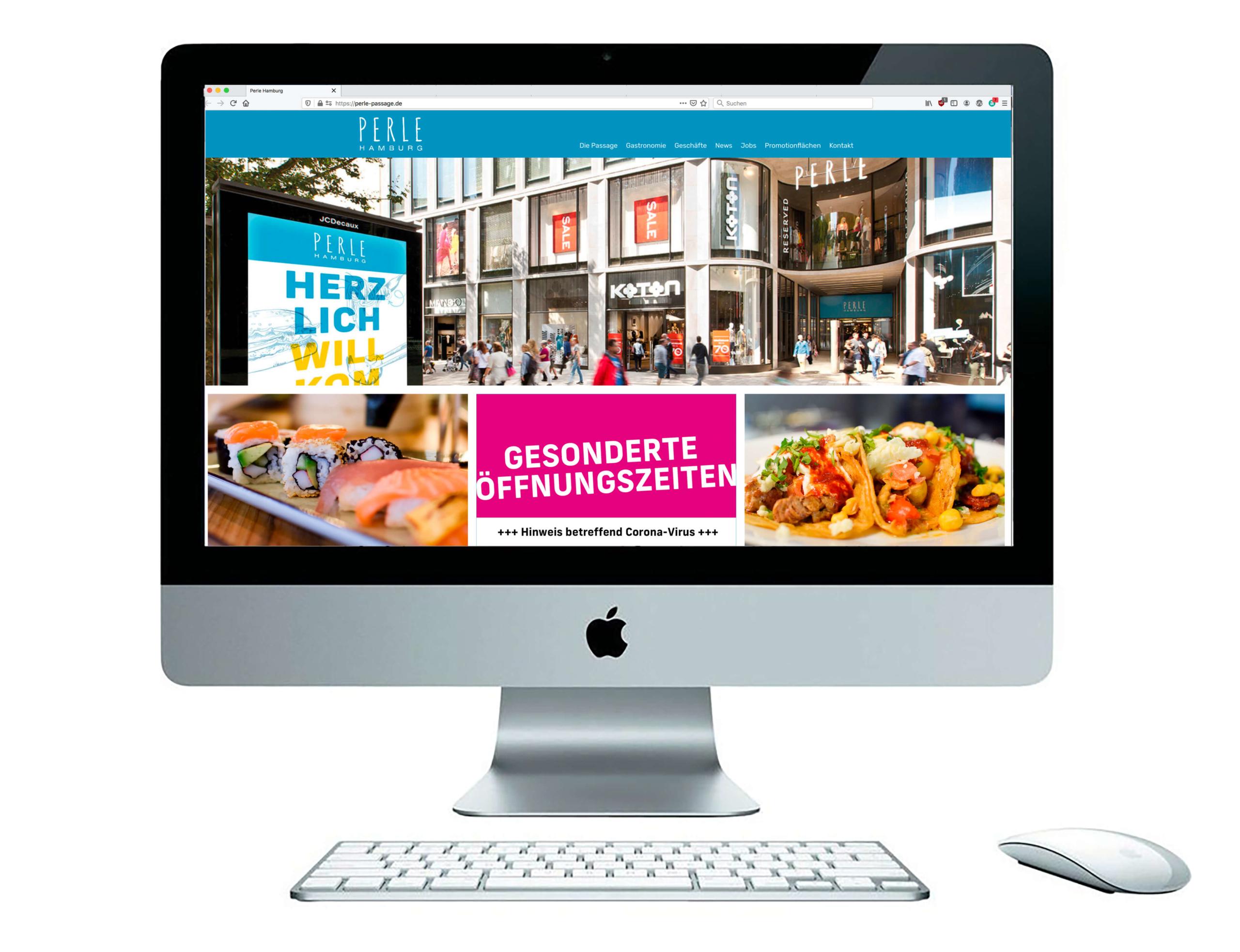 PERLE Hamburg, Website