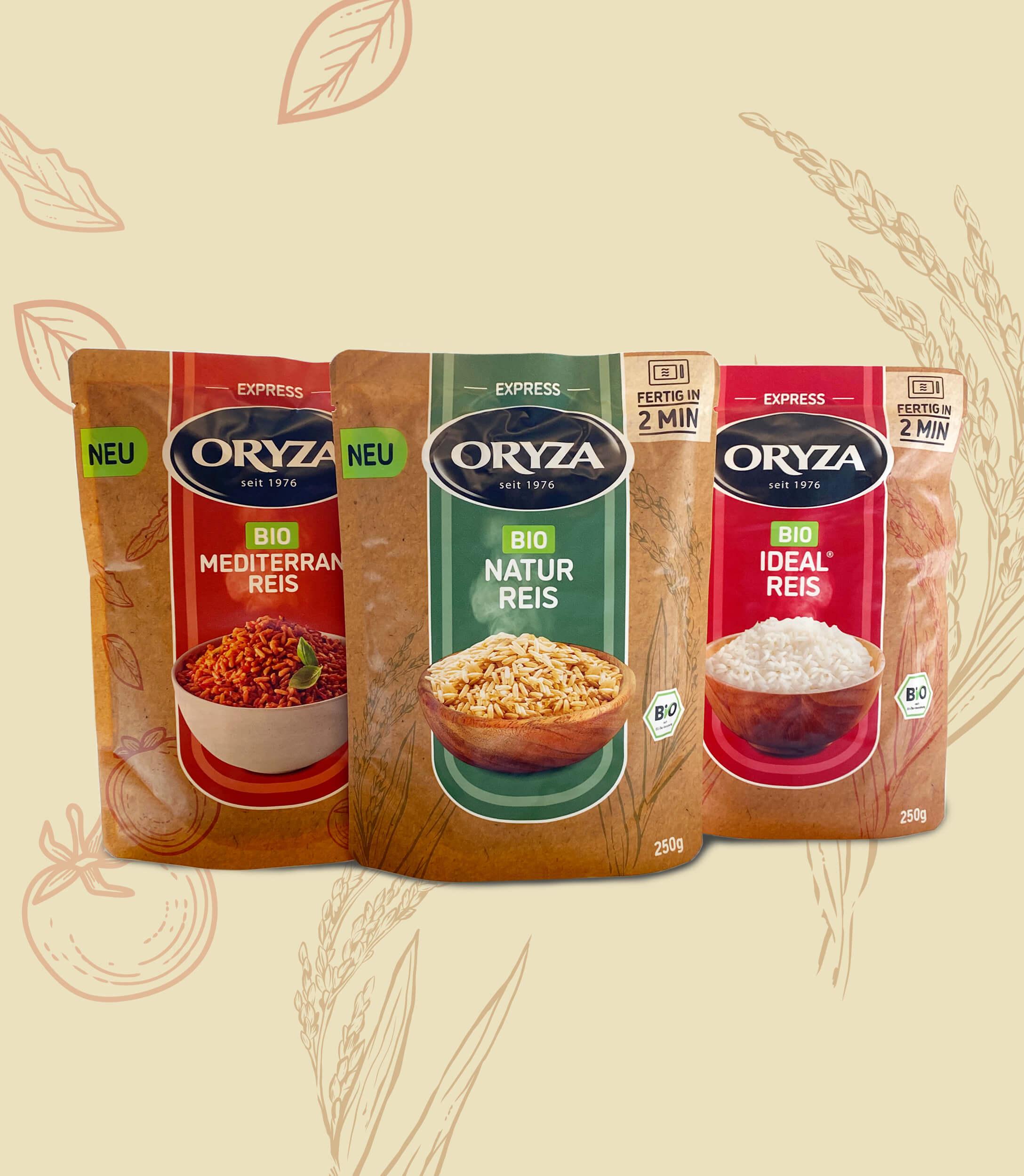 ORYZA, BIO, 3 Sorten
