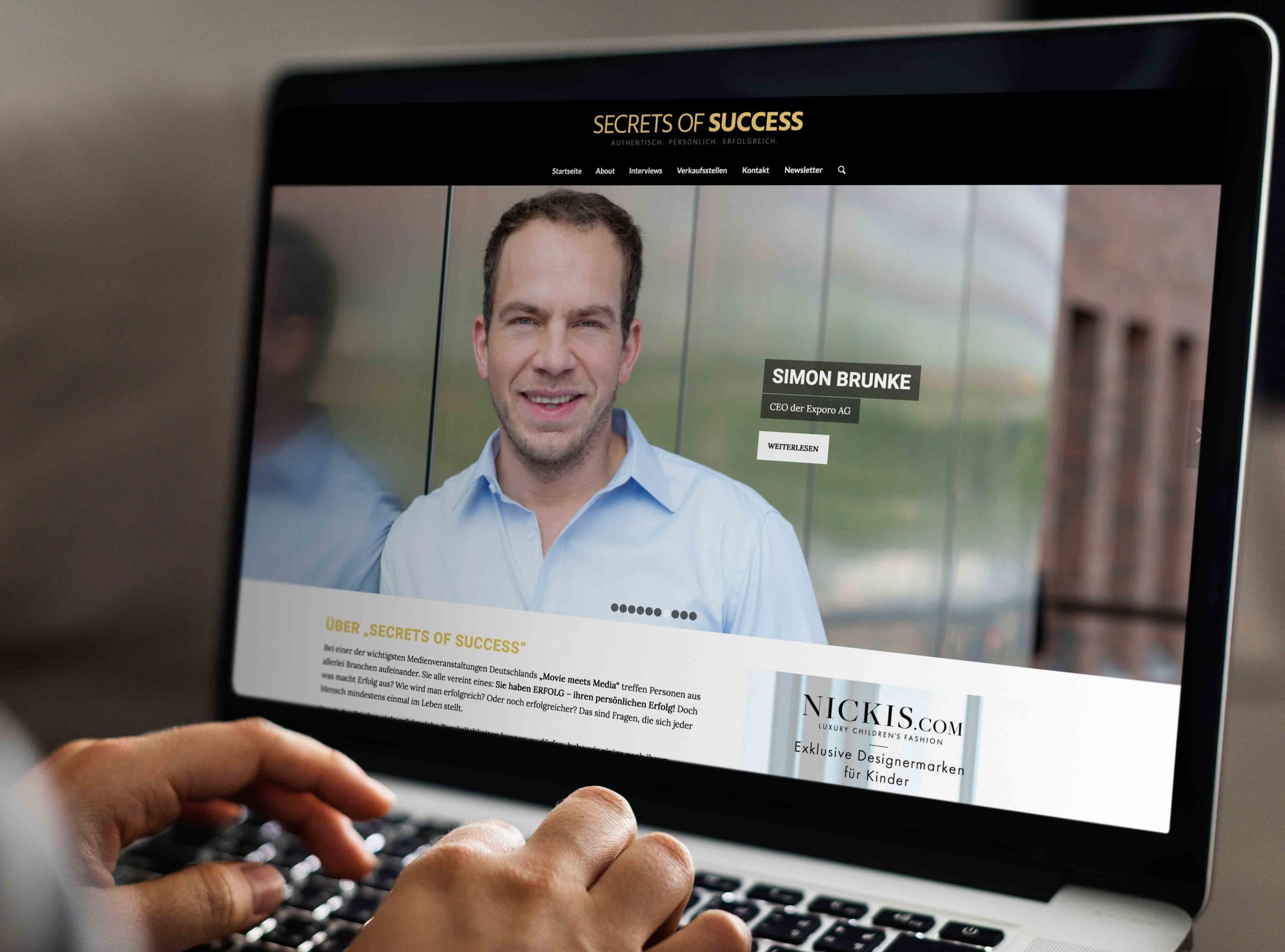 Secrets of Success Website