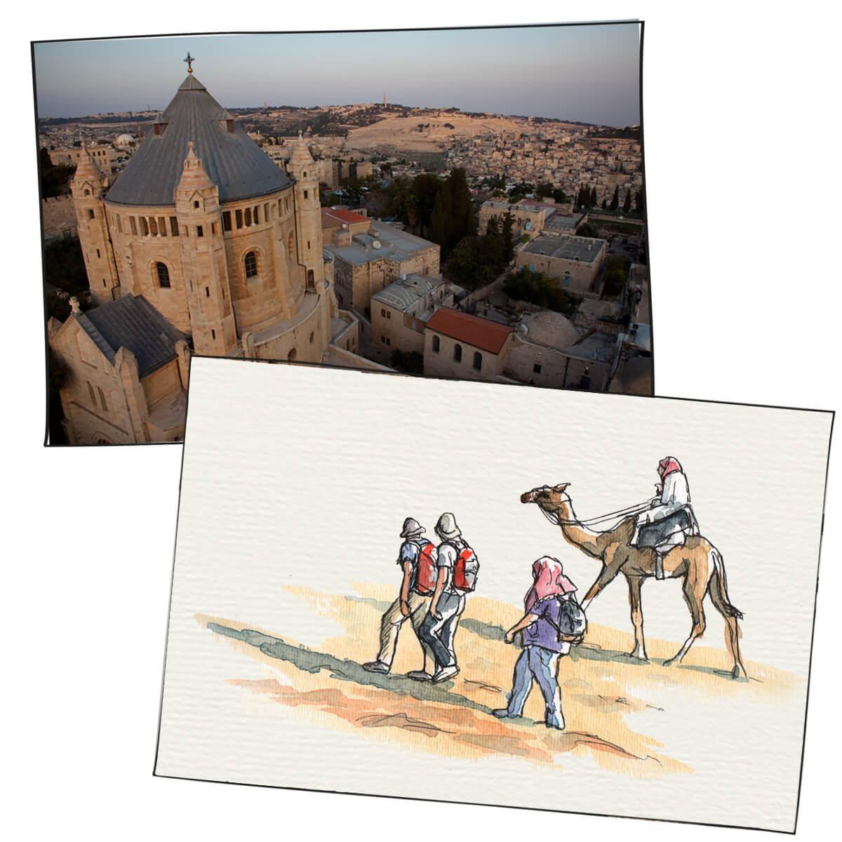 Collage mit Foto und Illustration