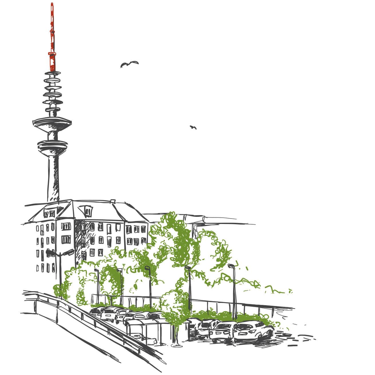 Illustration Telemichl, Hamburg
