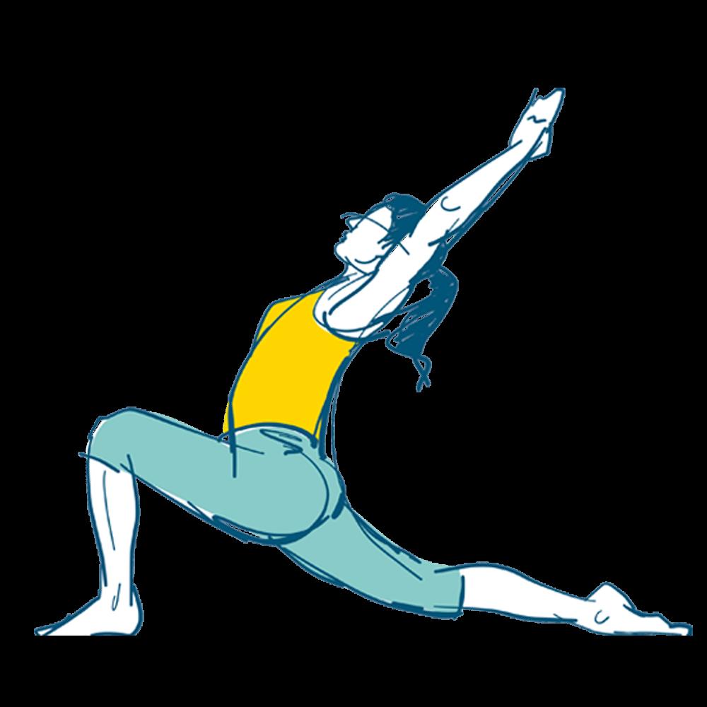Illustration Frau macht Yoga